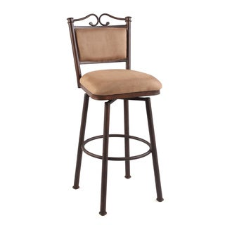 "Autumn Rust/Taupe 26"" Memory Return Swivel Counter Stool"