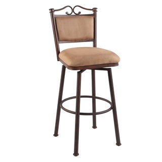 Somette Autumn Rust/ Taupe 30-inch Memory Return Swivel Bar Stool