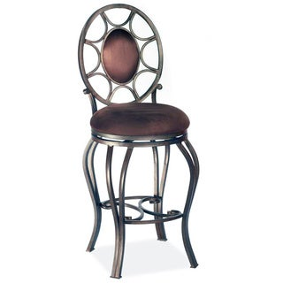 "Autumn Rust/Brown 30"" Memory Return Swivel Bar Stool"