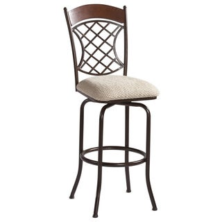 Autumn Rust/Beige Memory Return Swivel Counter Stool
