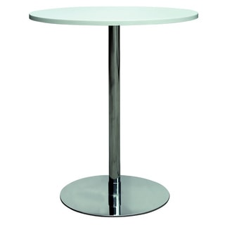 Chrome/White MDF Counter Pub Table