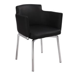Club Style Modern Swivel Arm Chair (Set of 2)
