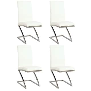 White Z-frame Contemporary Side Chair (Set of 4)
