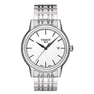 Tissot Men's 'Carson' White Dial Stainless Steel Watch