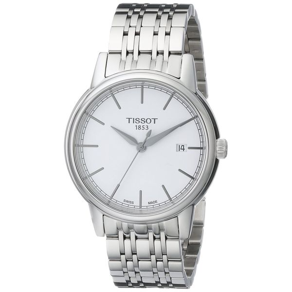 Tissot Men's T0854101101100 'Carson' White Dial Stainless Steel Watch