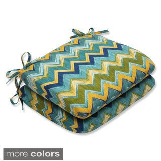 Pillow Perfect Outdoor Tamarama Rounded Corners Seat Cushion (Set of 2)