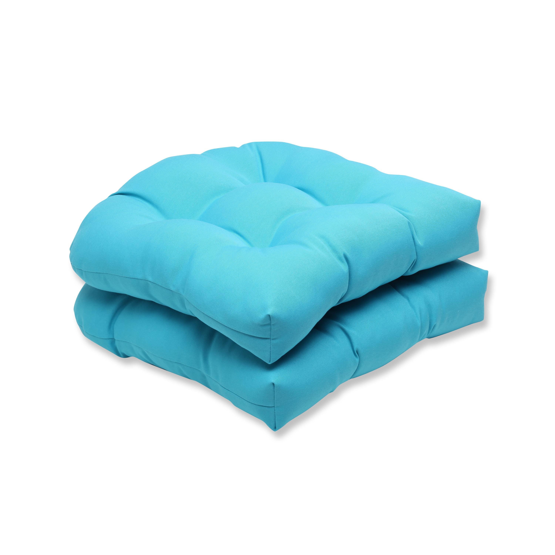 Pillow Perfect Outdoor Veranda Turquoise Wicker Seat