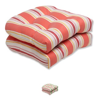 Pillow Perfect Cayman Wicker Seat Cushion (Set of 2)