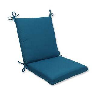Pillow Perfect Squared Corners Chair Cushion with Sunbrella Spectrum Peacock Fabric