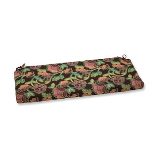 Pillow Perfect Bench Cushion with Sunbrella Vagabond Paradise Fabric