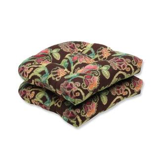 Pillow Perfect Wicker Seat Cushion with Sunbrella Vagabond Paradise Fabric (Set of 2)