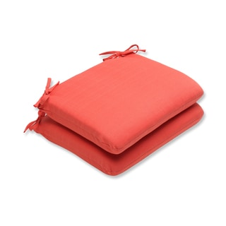 Pillow Perfect Outdoor Coral Rounded Corners Seat Cushion (Set of 2)