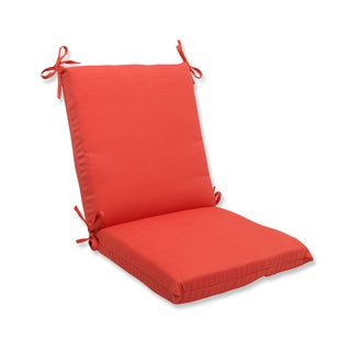 Pillow Perfect Outdoor Coral Squared Corners Chair Cushion