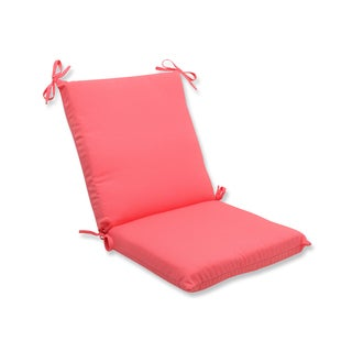 Pillow Perfect Outdoor Pink Squared Corners Chair Cushion