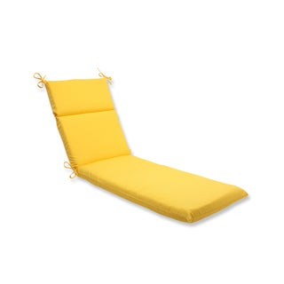 Pillow Perfect Outdoor Yellow Chaise Lounge Cushion