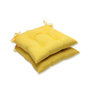 Pillow Perfect Outdoor Yellow Wrought Iron Seat Cushion (Set of 2)