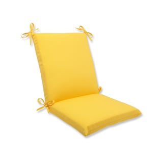 Pillow Perfect Outdoor Yellow Squared Corners Chair Cushion