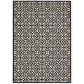 "Nourison Home and Garden Indoor/Outdoor Black-White Rug (5'3"" x 7'5"")"