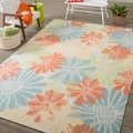 Nourison Ivory/Multicolored Floral Indoor/Outdoor Area Rug (10' x 13')
