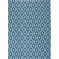 Nourison Indoor/Outdoor Navy/ Ivory Rug (5'3 x 7'5)