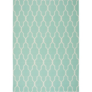 "Nourison Home & Garden Indoor/Outdoor Aqua Rug (4'3"" x 6'3"")"