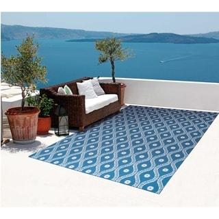 Nourison Home and Garden Indoor/Outdoor Navy Rug (10' x 13')