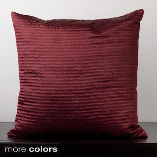 Satin Sqaure Ribbed Feather or Poly Filled Decorative Throw Pillow