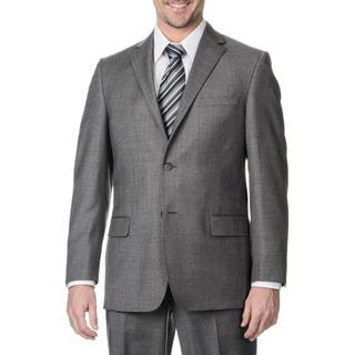 Henry Grethel Men's Grey 2-button Single Vent Jacket