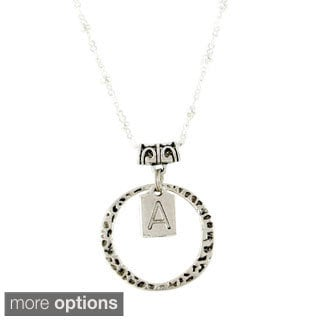 Love Letter Monograms Stamped Pewter Monogrammed Charm Necklace