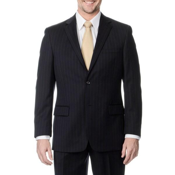 Henry Grethel Men's Navy Stripe 2-button Jacket