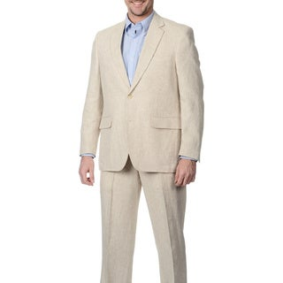 Henry Grethel Men's 2-button Single Vent Natural Suit Jacket