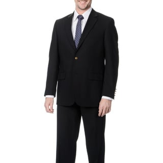 Henry Grethel Men's Black Novelty 2-button Jacket