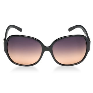 Tory Burch Women's 'TY 7026' Black/ Orange Fade Oval Fashion Sunglasses