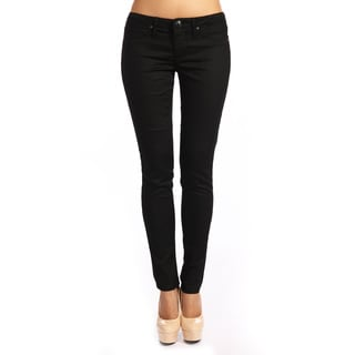 Stitch's Women's Black Leopard Denim Skinny Jeans