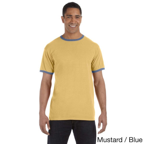 Men's Ringspun Cotton Pigment-dyed Ringer T-shirt