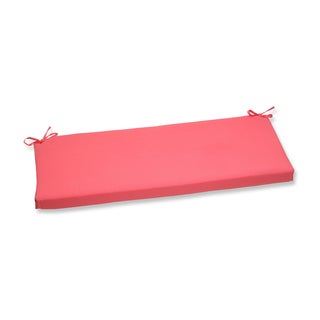 Pillow Perfect Outdoor Pink Bench Cushion