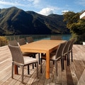 Sofia 9-piece Teak and Wicker Outdoor Dining Set