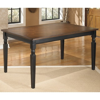 Signature Design by Ashley Owingsville Rectangular Black/ Brown Dining Room Table