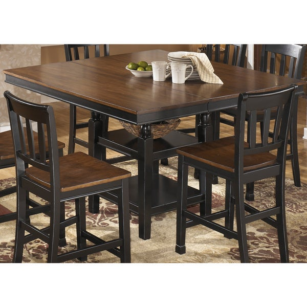 Square Black Brown Extension Dining Room Table Antique Solid Kitchen