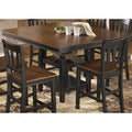 Signature Design by Ashley 'Owingsville' Square Black/ Brown Extension Dining Table