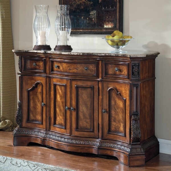 cherry dining room server buffet storage furniture cabinet sideboard