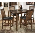 Signature Design by Ashley Stuman Medium Brown 5-piece Dining Room Counter Table Set