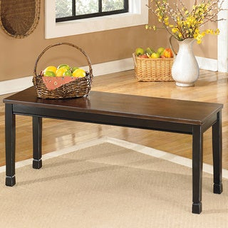 Signature Design by Ashley 'Owingsville' Black/ Brown Large Dining Room Bench