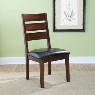 Signature Design by Ashley Larchmont Dark Brown Dining Upholstered Side Chair (Set of 2)