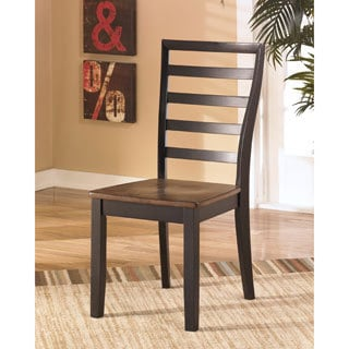 Signature Design by Ashley Alonzo Two-tone Brown Dining Room Side Chair (Set of 2)