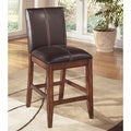 Signature Design by Ashley 'Larchmont' Dark Brown Upholstered Barstool (Set of 2)