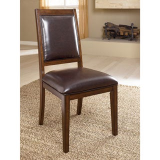 Signature Design by Ashley Holloway Mahogany Dining Upholstered Side Chair (Set of 2)