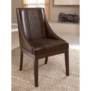 Signature Design by Ashley 'Holloway' Mahogany Dining Upholstered Arm Chair (Set of 2)