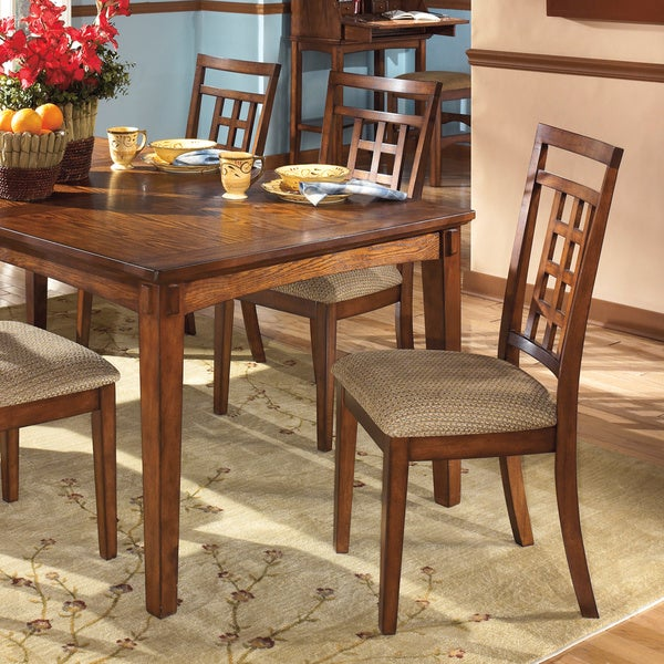 signature design by ashley cross island oak dining side chair set of