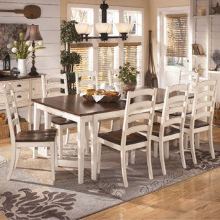 Signature Design by Ashley 'Whitesburg' White and Brown Dining Room Table